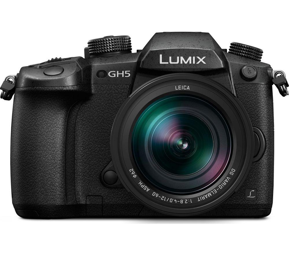PANASONIC Lumix DC-GH5 Mirrorless Camera with 12-60 mm f/2.8 Lens - Black