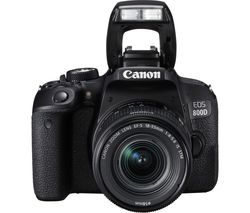 CANON EOS 800D DSLR Camera with 18-55 mm f/3.5-5.6 Lens - Black