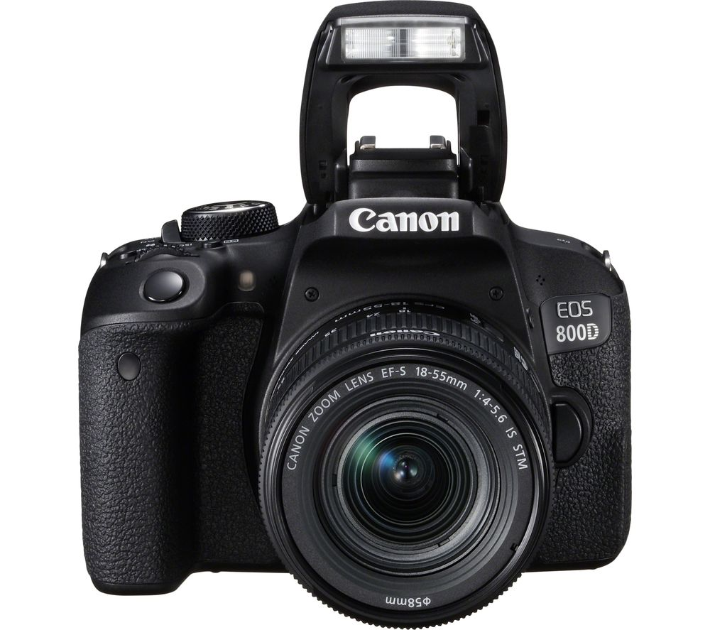 Image of CANON EOS 800D DSLR Camera with 18-55 mm f/3.5-5.6 Zoom Lens - Black, Black