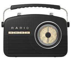 AKAI Portable Analogue Retro Radio - Black