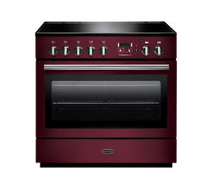 RANGEMASTER Professional+ FX 90 Electric Induction Range Cooker - Cranberry & Chrome