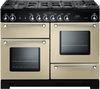 RANGEMASTER Kitchener 110 Dual Fuel Range Cooker - Cream & Chrome