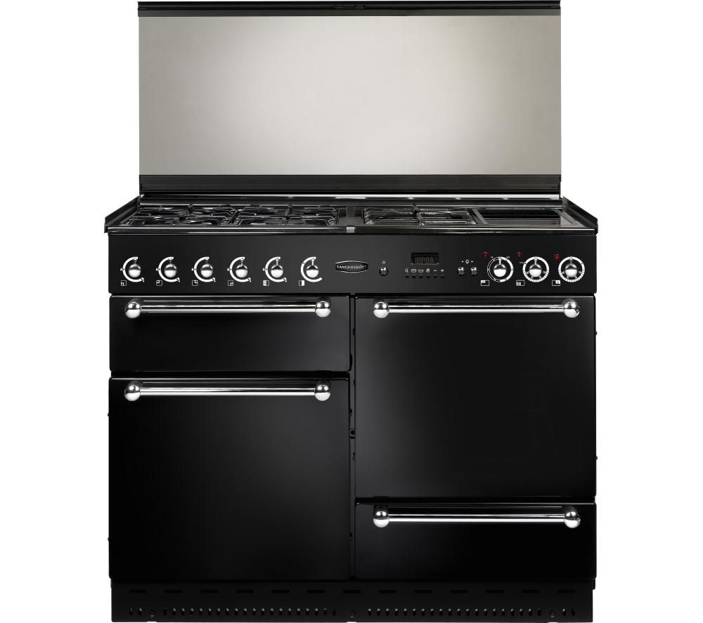 RANGEMASTER 110 LPG Range Cooker - Black & Chrome
