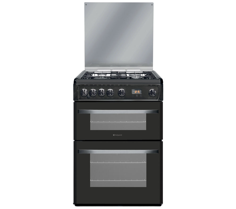 HOTPOINT DSG60GM Gas Cooker - Gun Metal