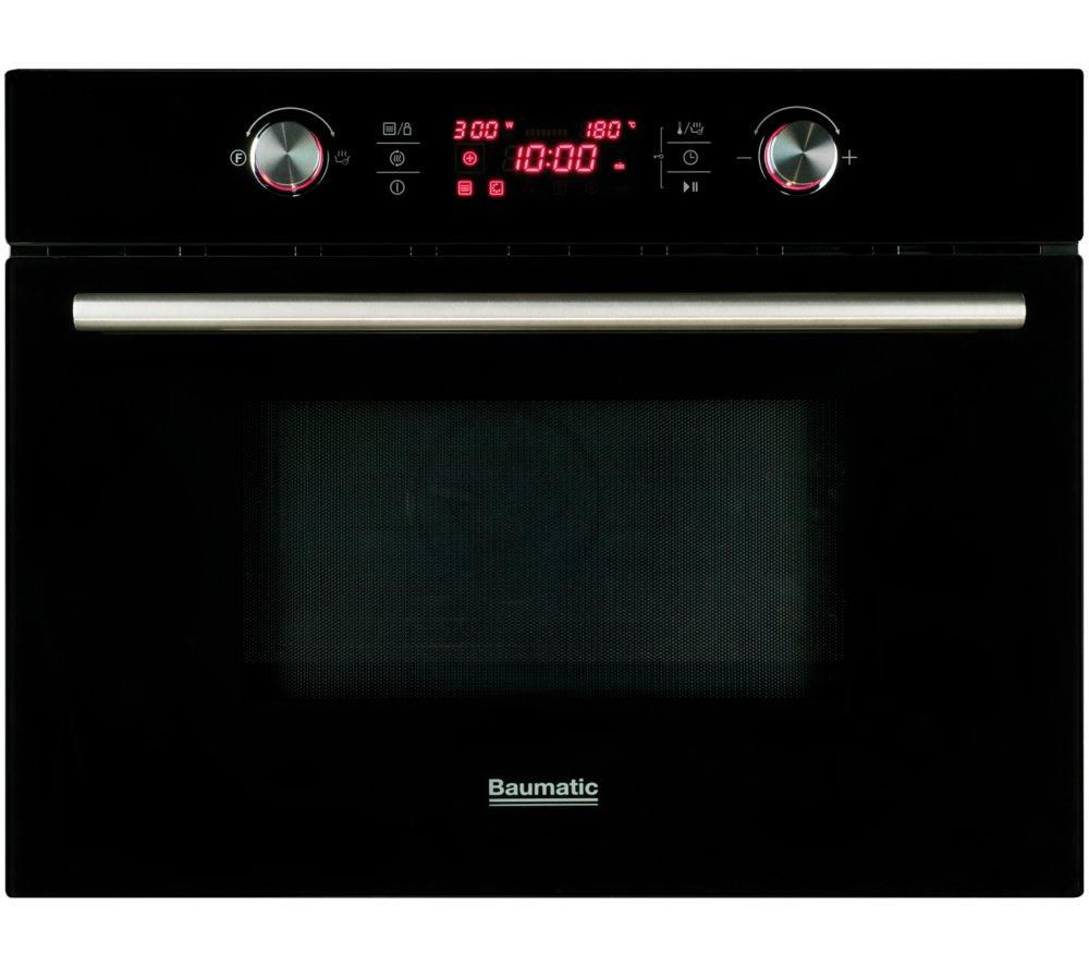 Image of Baumatic BMC460BGL Built-in Combination Microwave - Black Glass, Black