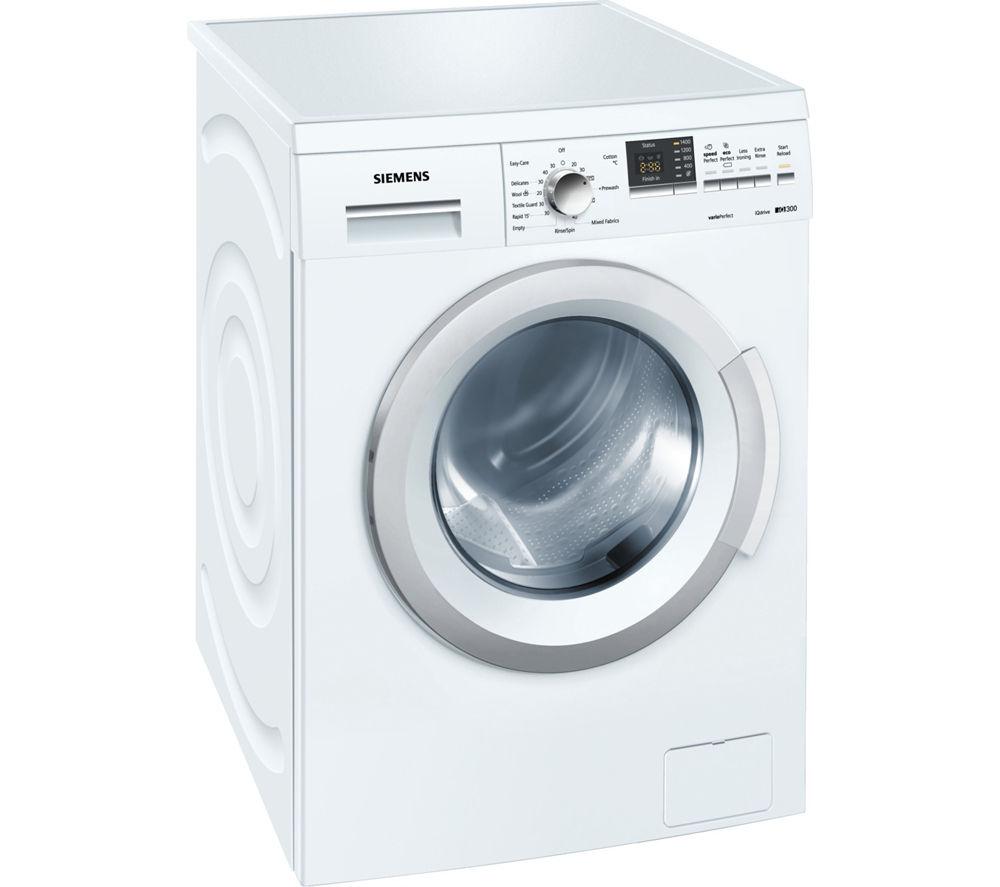 buy siemens iq300 wm14q391gb washing machine white free delivery currys