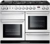 RANGEMASTER Nexus 110 Dual Fuel Range Cooker - White & Chrome