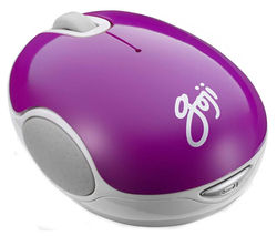 GOJI GMWLPP15 Wireless Blue Trace Mouse - Purple