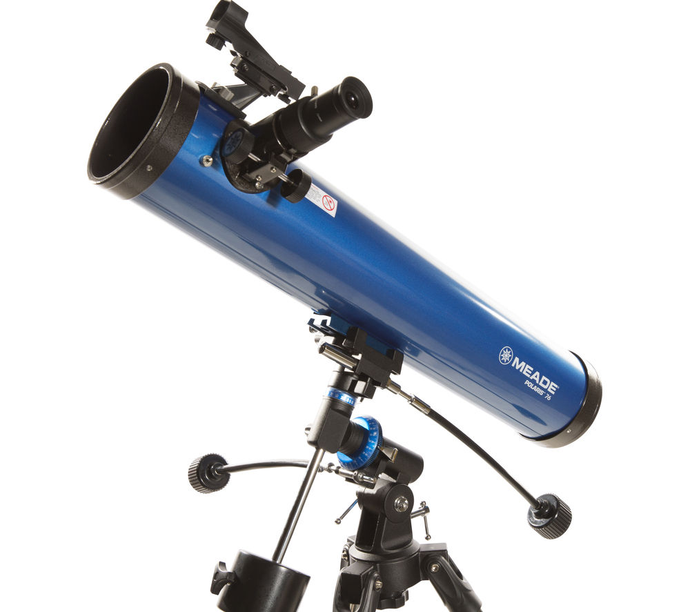 MEADE Polaris 76 EQ Reflector Telescope - Blue