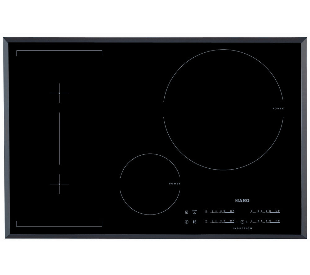 AEG  HK854320FB Electric Induction Hob  Black Black