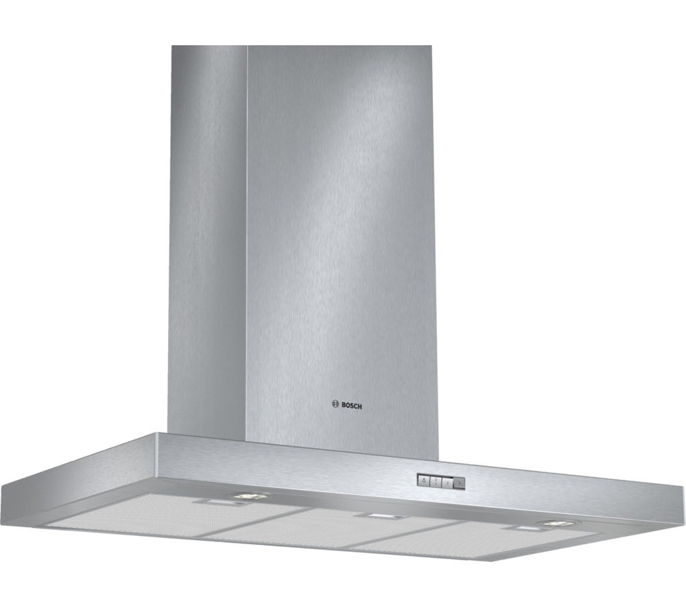 buy bosch dwb094w50b chimney cooker hood stainless steel free delivery currys. Black Bedroom Furniture Sets. Home Design Ideas