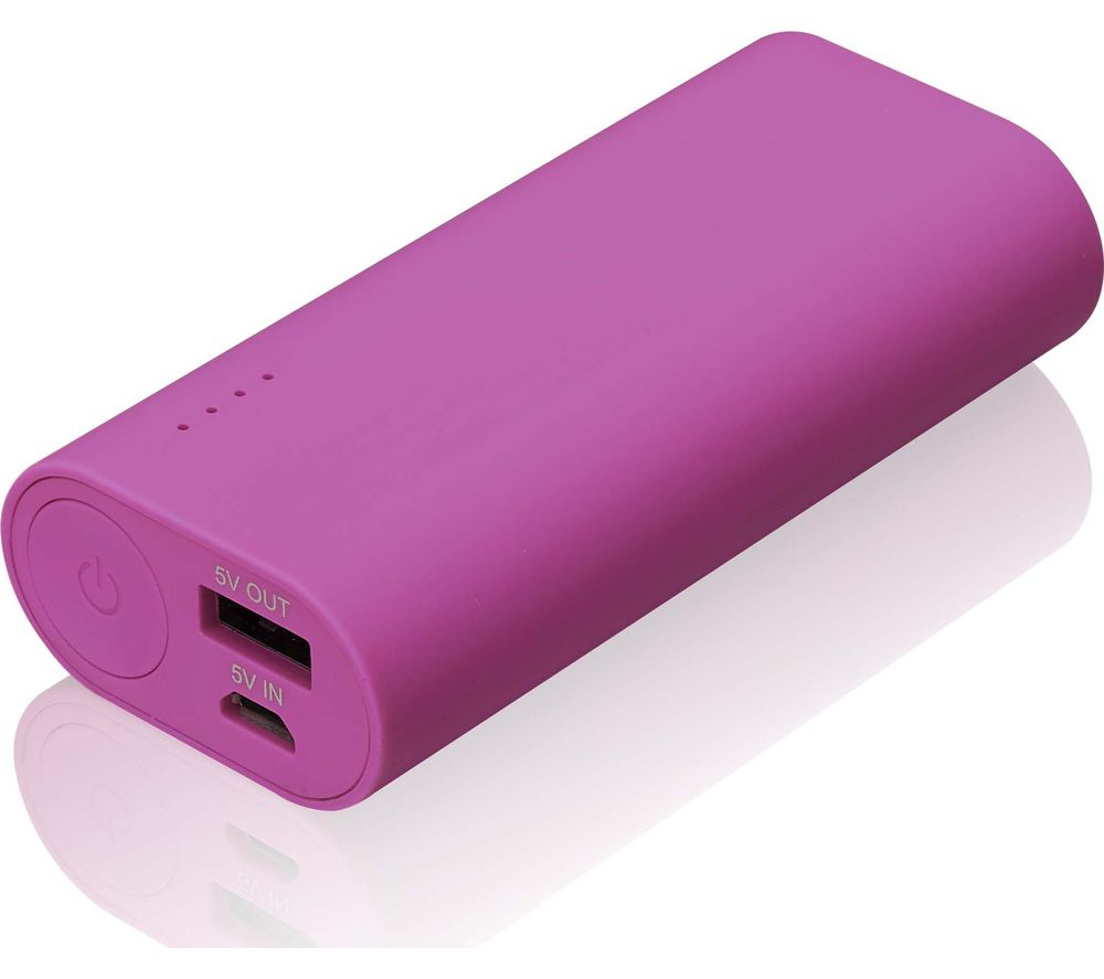 GOJI G6PB6PK16 Portable Power Bank - Pink