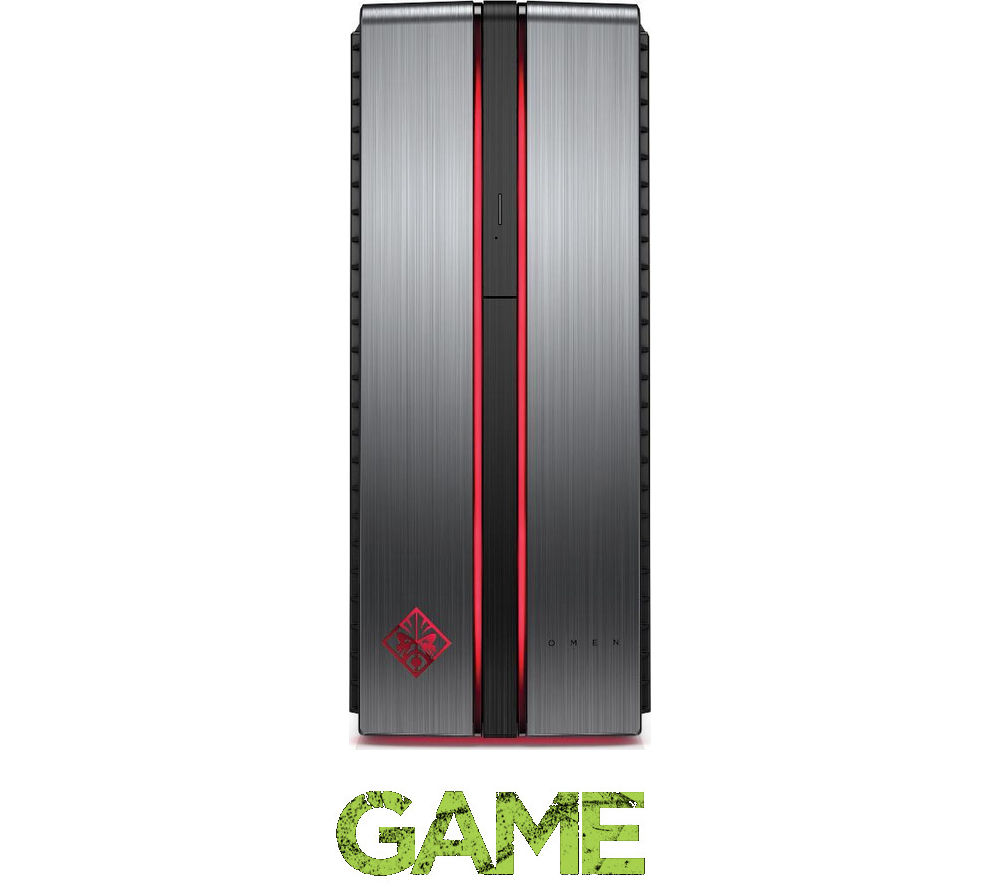 HP OMEN 870-003na Gaming Desktop with Intel Quad Core i5-6600K / 16GB / 2TB / Win 10 / 8GB (Dual 4GB) Video
