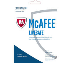 MCAFEE LiveSafe Unlimited 2017 - 1 year