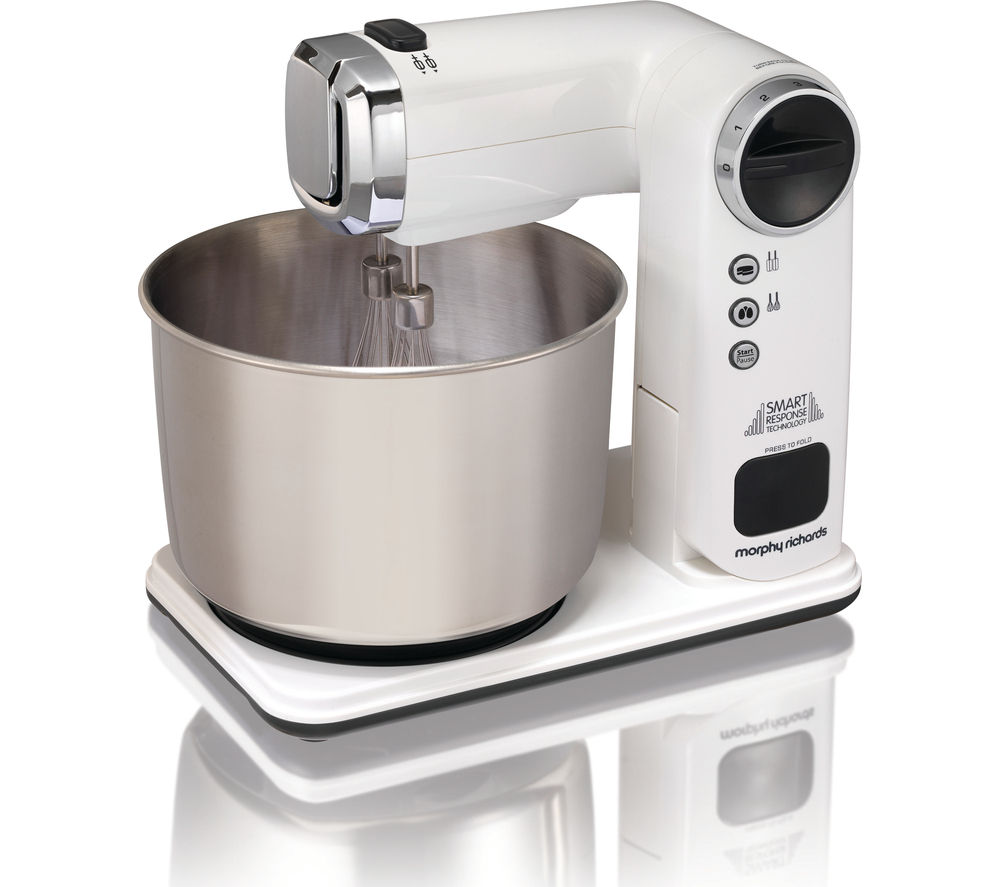 MORPHY RICHARDS 400405 Total Control Folding Stand Mixer - White