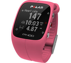 POLAR M400 HRM GPS Running Watch - Pink, Universal