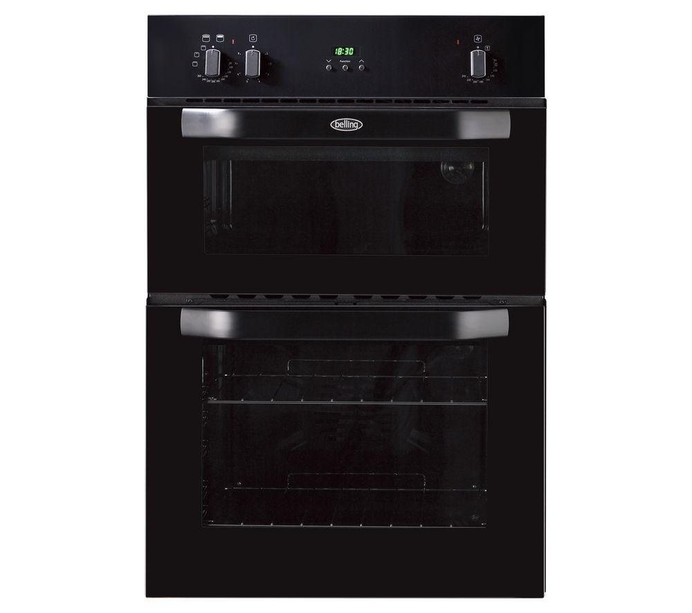 BELLING BI90FP Electric Double Oven - Black