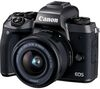 CANON EOS M5 Mirrorless Camera with 15-45 mm f/3.5-6.3 Lens & Smart Lens Adapter - Black
