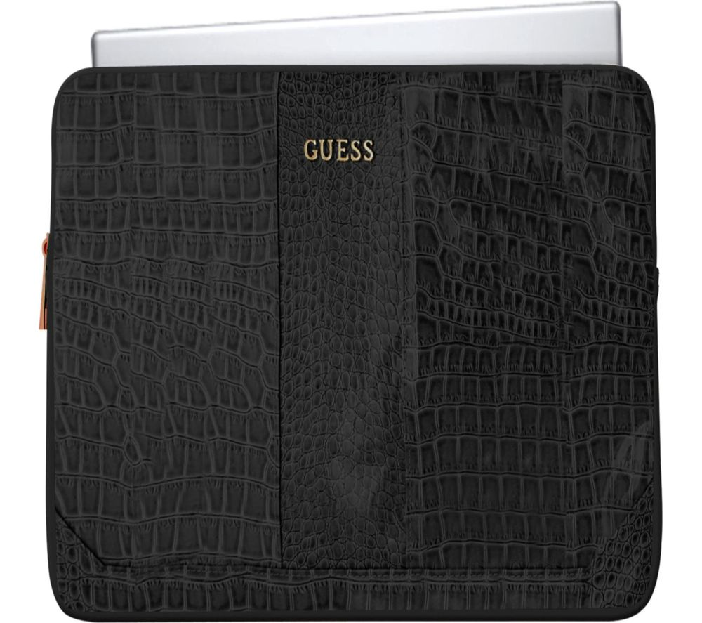 "GUESS 13"" Laptop Sleeve - Crocodile Black"