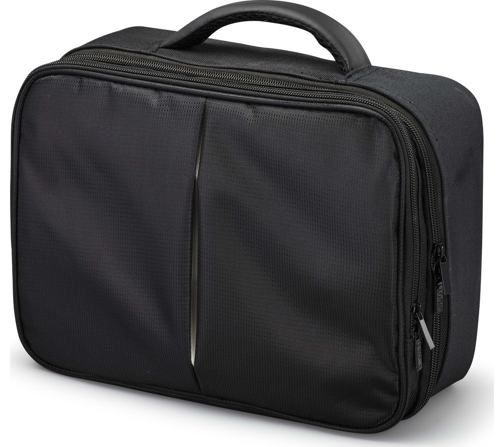 LOGIK LPDVDC17 Twin Pack Portable DVD Case - Black