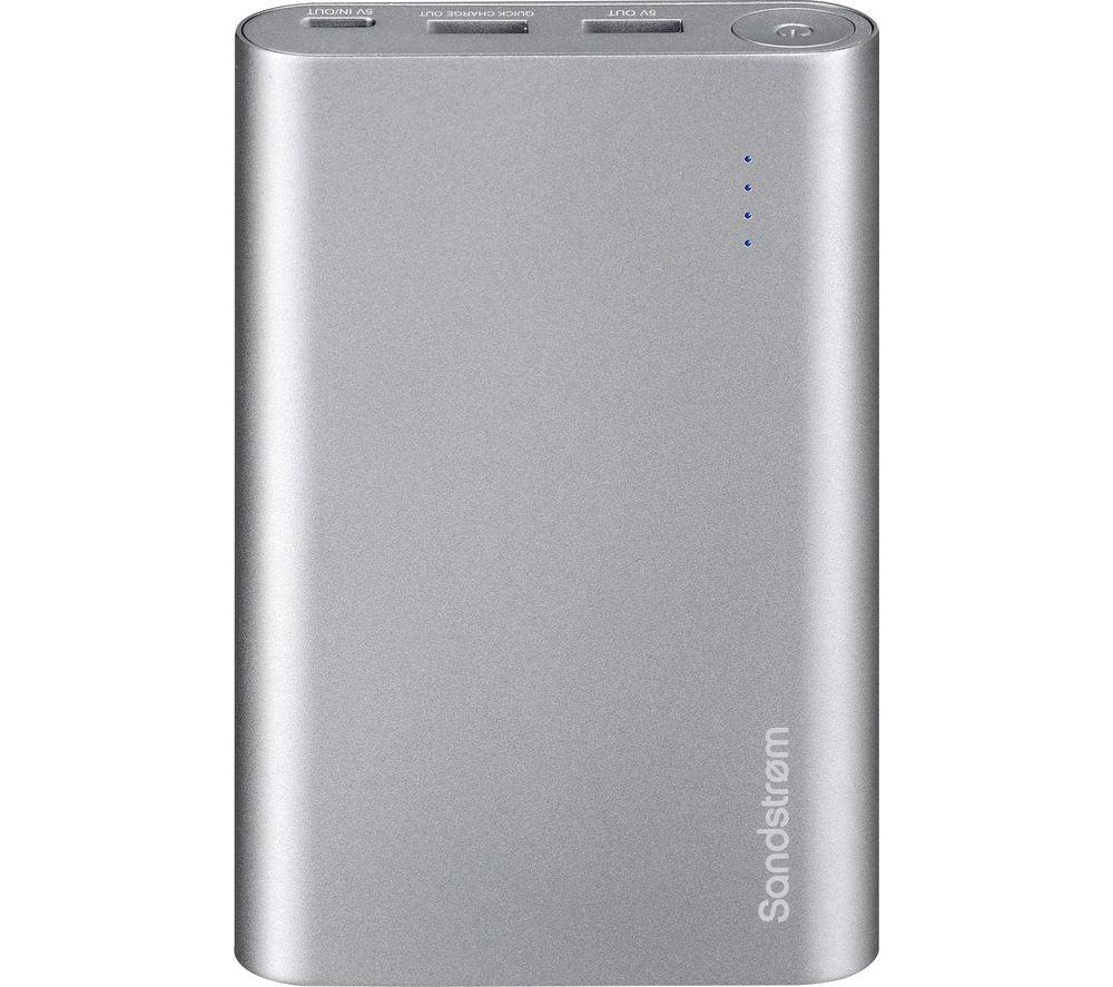 SANDSTROM S13PBQC17 Portable Power Bank - Silver
