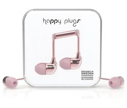 HAPPY PLUGS Deluxe Edition Headphones - Rose Gold