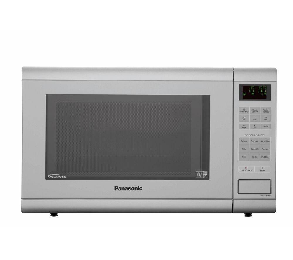 Image of Panasonic NNST462MBPQ Solo Microwave - Metallic Silver, Silver