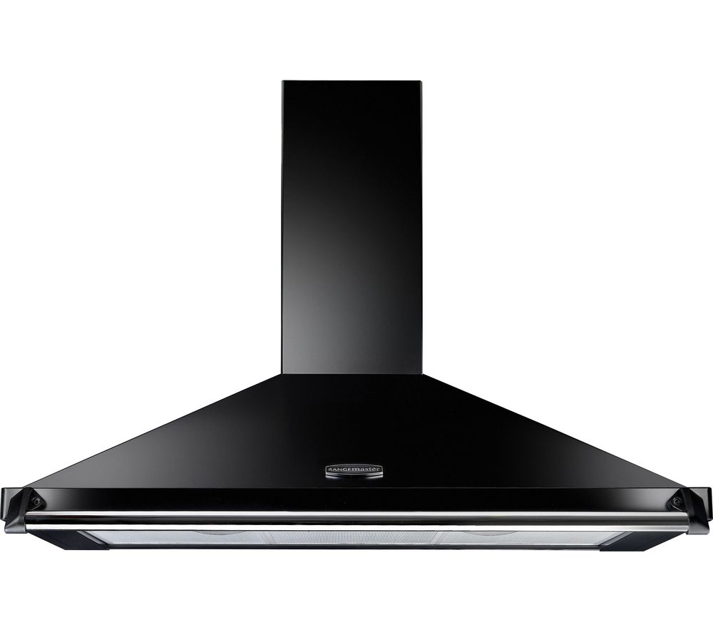 RANGEMASTER CLAHDC110BC Classic Chimney Cooker Hood - Black & Chrome