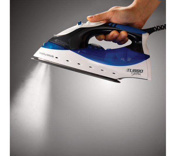 buy morphy richards turbosteam 40679 steam iron blue. Black Bedroom Furniture Sets. Home Design Ideas