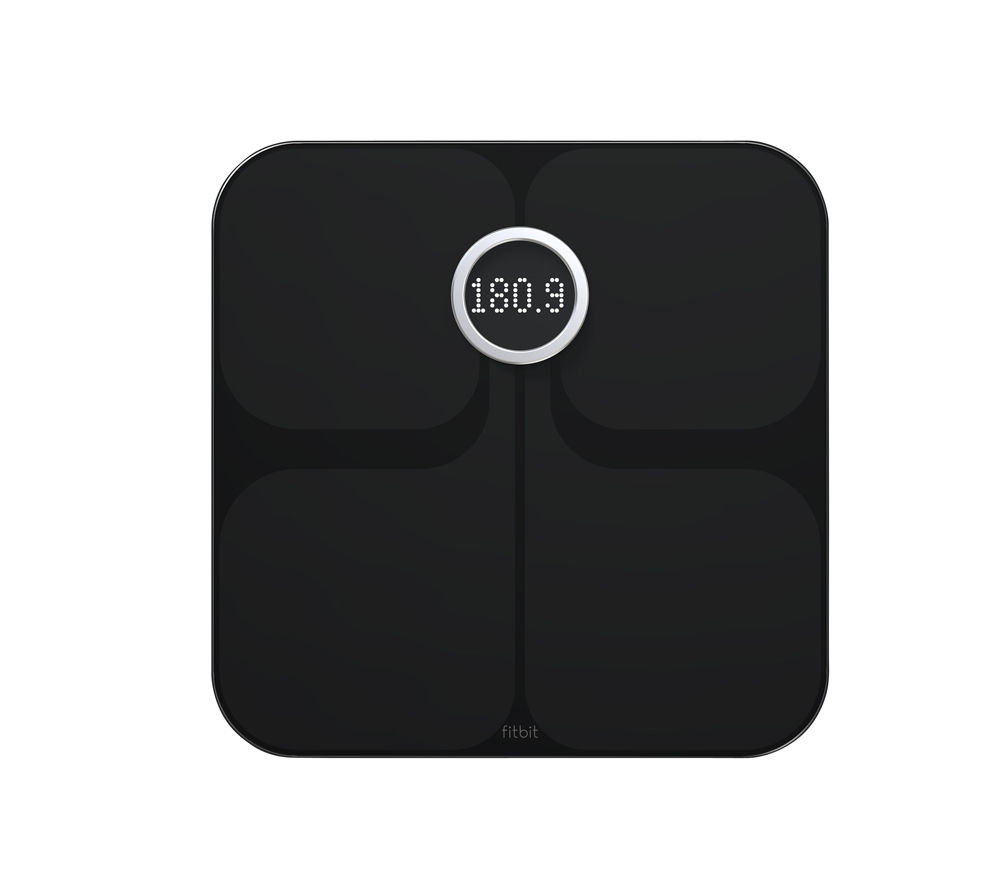 Fitbit Aria WiFi Smart Bathroom Scales - Black, Black