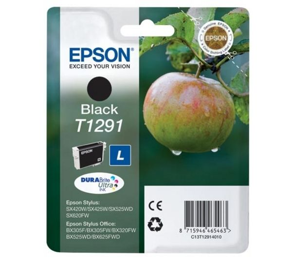 Image of Epson Apple T1291 Black Ink Cartridge, Black