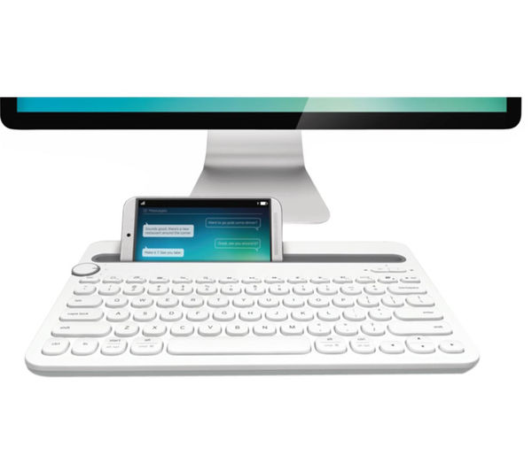buy logitech k480 wireless keyboard white free delivery currys. Black Bedroom Furniture Sets. Home Design Ideas