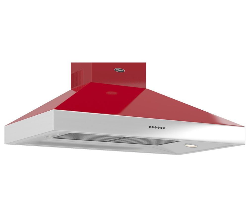 BRITANNIA  Latour TPBTH100GR Chimney Cooker Hood  Gloss Red Red