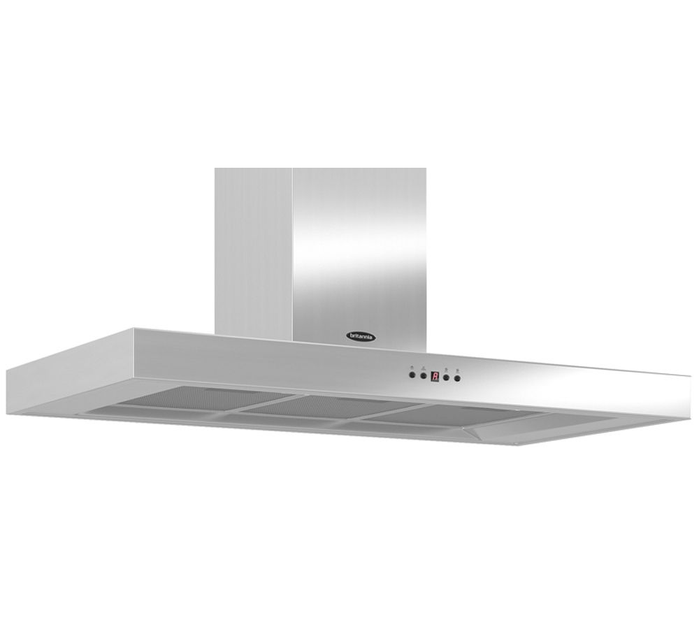 Image of BRITANNIA Arioso TPK7088A10S Chimney Cooker Hood - Stainless Steel, Stainless Steel