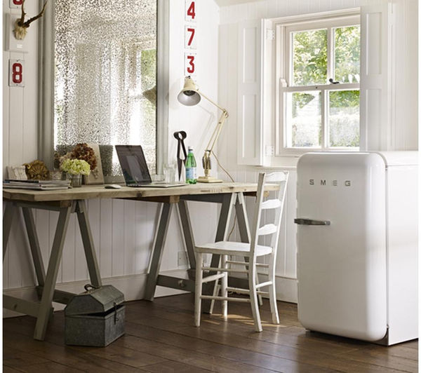 buy smeg fab10rb tall fridge white free delivery currys. Black Bedroom Furniture Sets. Home Design Ideas