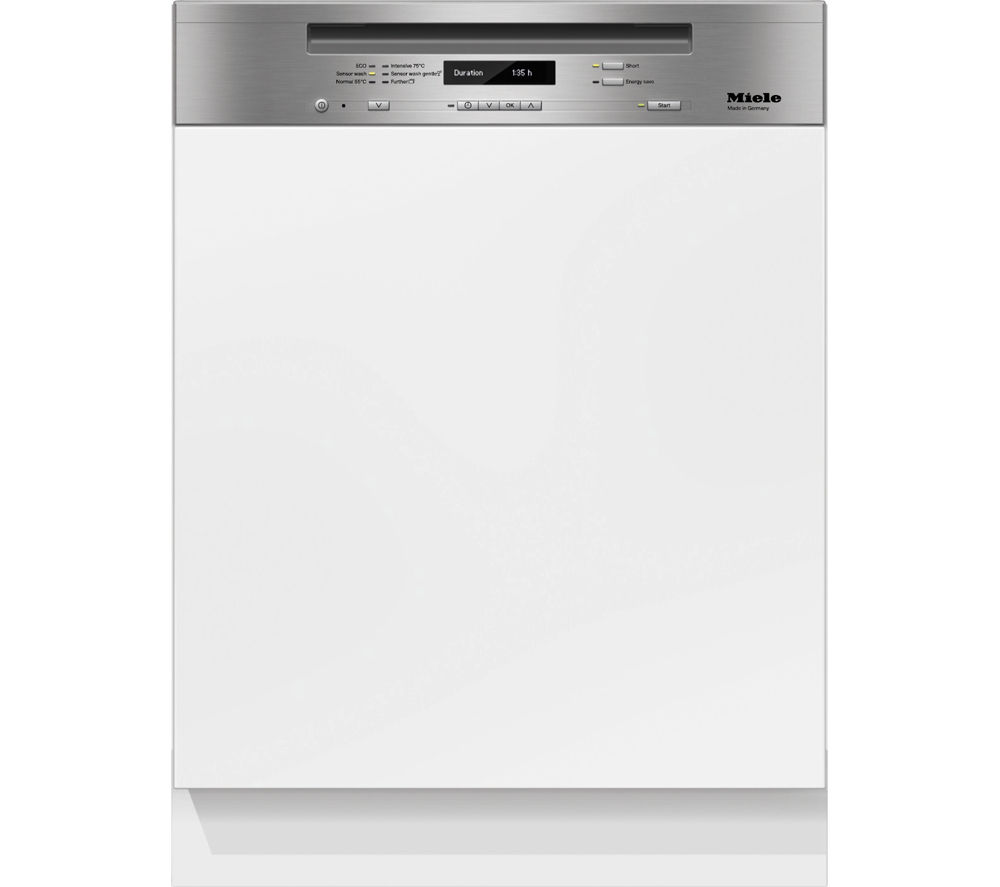 Image of Miele G6410 SCi CLST Semi-integrated Dishwasher - Clean Steel