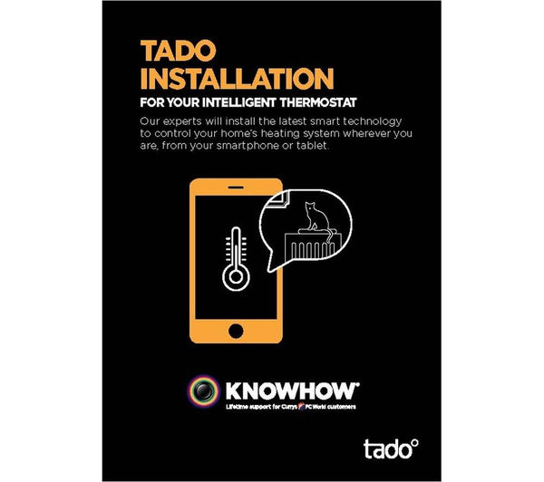 buy tado smart thermostat with extension box and installation free delivery currys. Black Bedroom Furniture Sets. Home Design Ideas