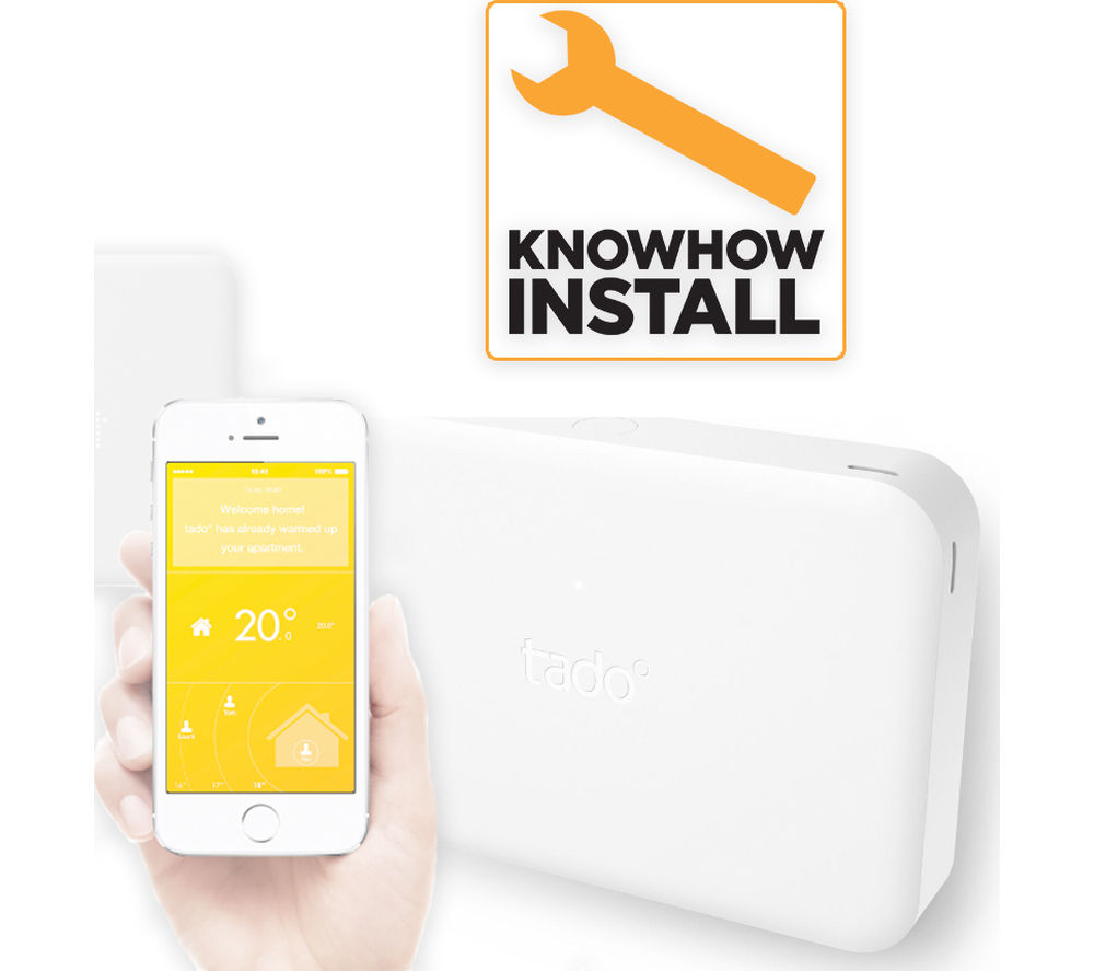 Image of TADO Smart Thermostat with Extension Box and Installation