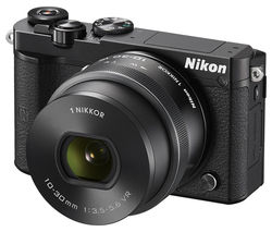 NIKON 1 J5 Compact System Camera with NIKKOR 10-30 mm f/3.5-5.6 VR Zoom Lens - Black