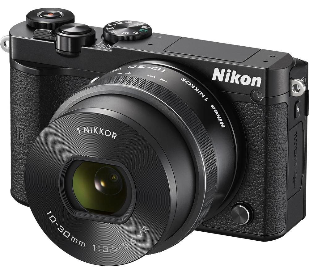 NIKON 1 J5 Mirrorless Camera with 10-30 mm f/3.5-5.6 Lens - Black