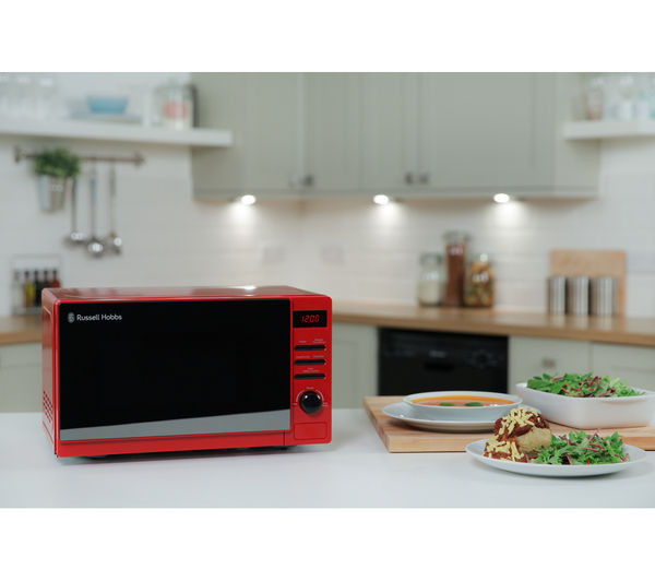 Buy russell hobbs rhm2079rso solo microwave red m for Art cuisine stone cookware