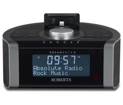 ROBERTS DreamDock2 DAB+ Clock Radio with Apple Lightning Connector - Black