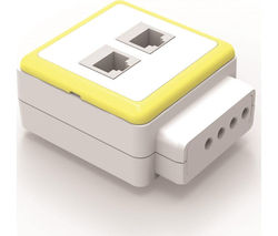 QUBIC PC-SUG-J45 Surge Protector 2-Socket Plug Adapter
