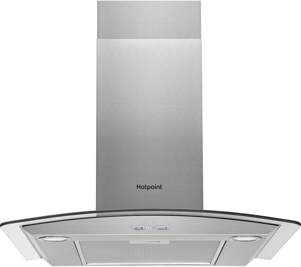 HOTPOINT PHGC6.5FABX Chimney Cooker Hood - Stainless Steel