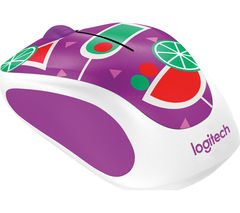 LOGITECH Cocktail M238 Wireless Optical Touch Mouse - Purple & Green