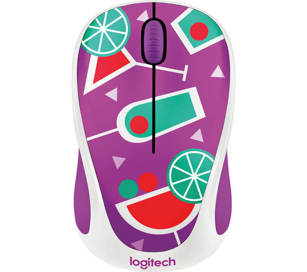 Image of LOGITECH Cocktail M238 Wireless Optical Touch Mouse - Purple & Green