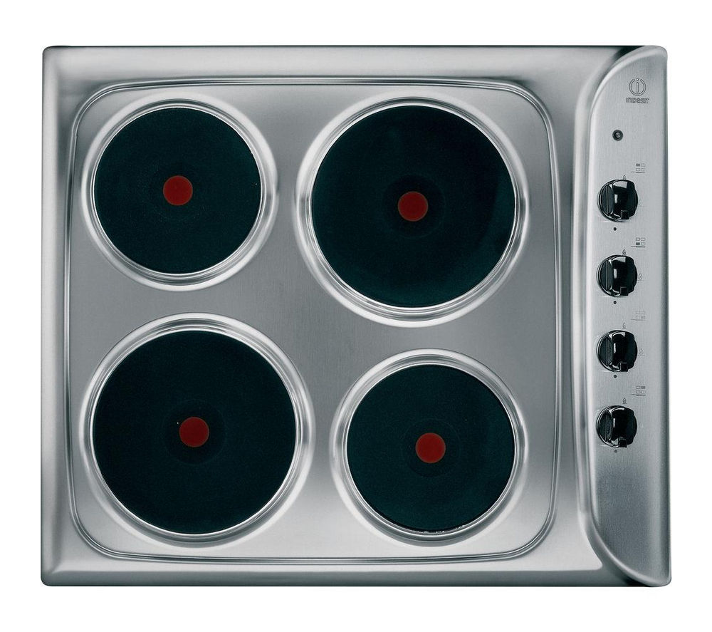 INDESIT  PIM 604 (IX) Electric Solid Plate Hob  Stainless Steel Stainless Steel