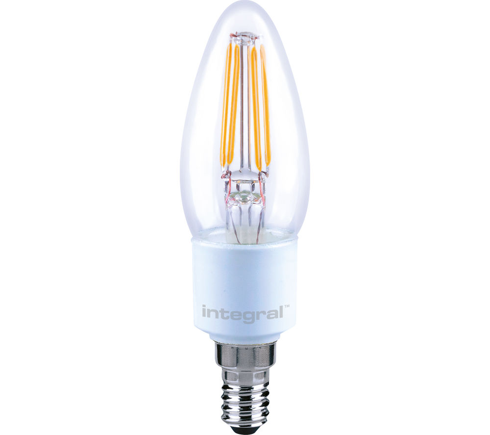INTEGRAL  ILCANDE14DC036 E14 Dimmable LED Light Bulb - Warm White, White