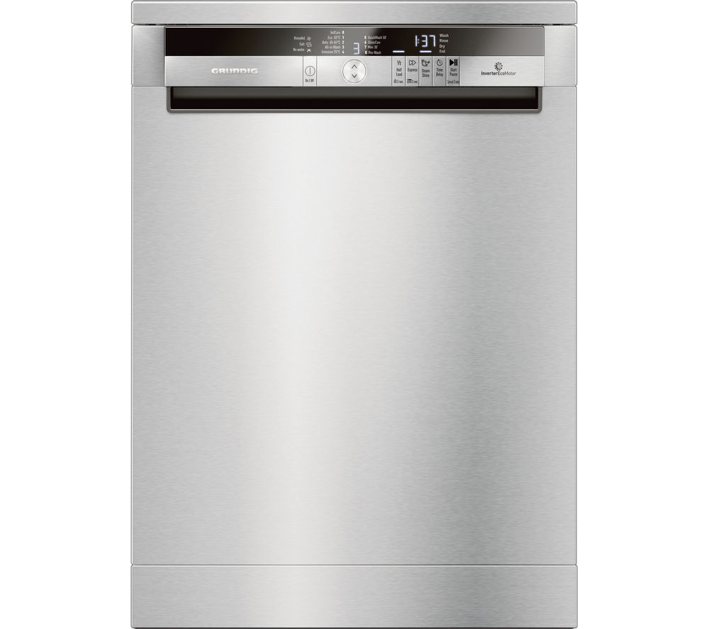 Image of GRUNDIG GNF41822X Full-size Dishwasher - Stainless Steel, Stainless Steel