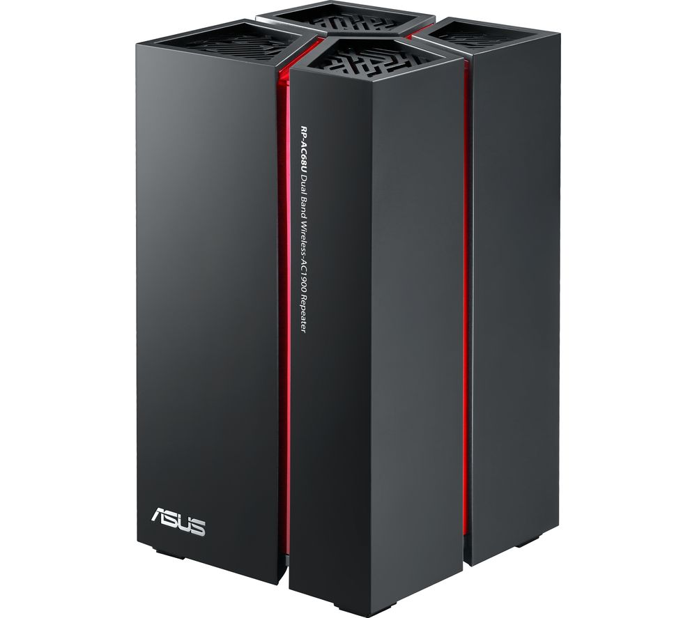 buy asus rp ac68u wifi range extender ac 1900 dual band free delivery currys. Black Bedroom Furniture Sets. Home Design Ideas